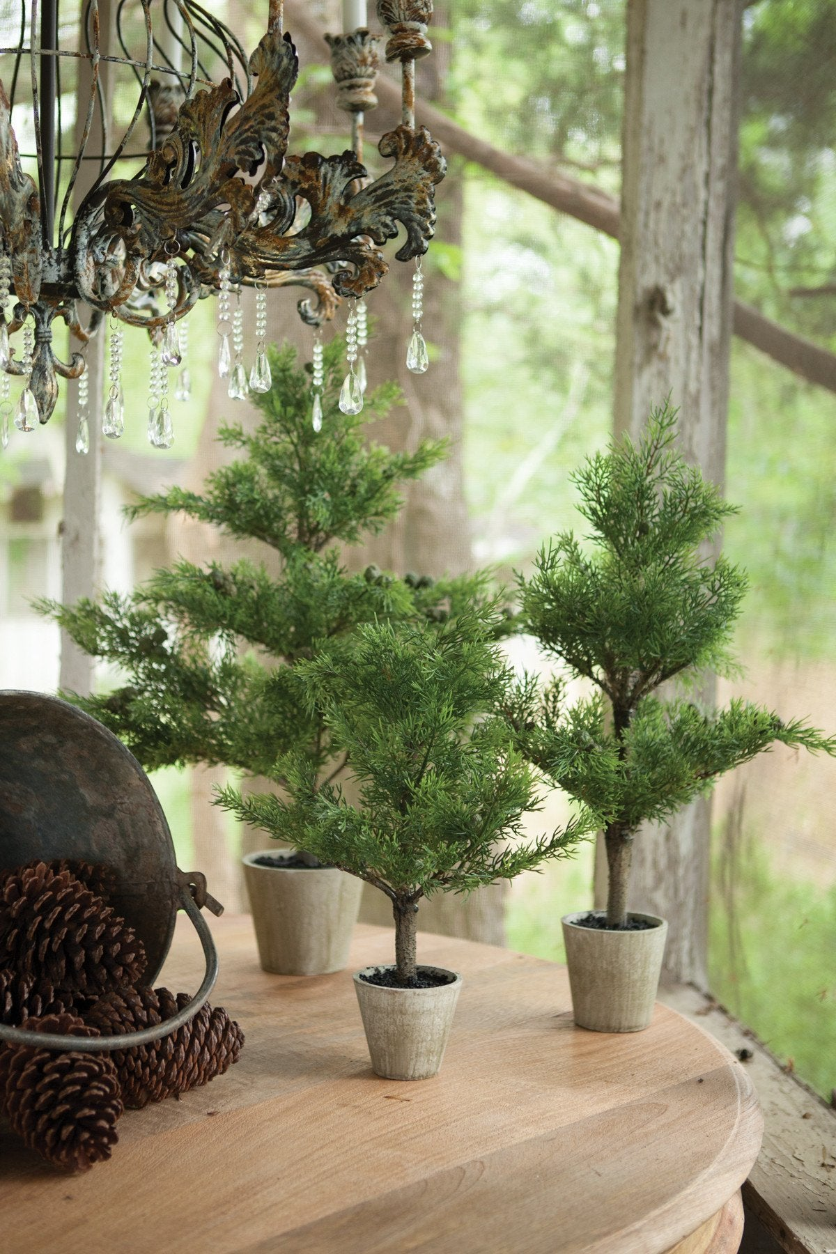 Artificial Cypress with Pots