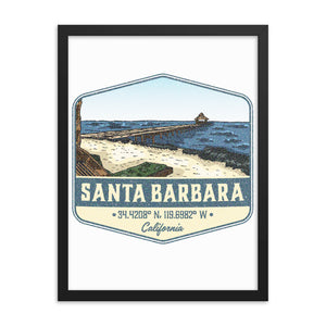 Santa Barbara, California Framed Poster