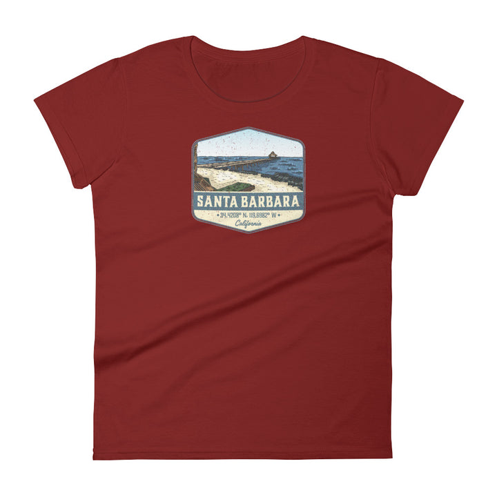 Santa Barbara, California Women's Short Sleeve T-shirt