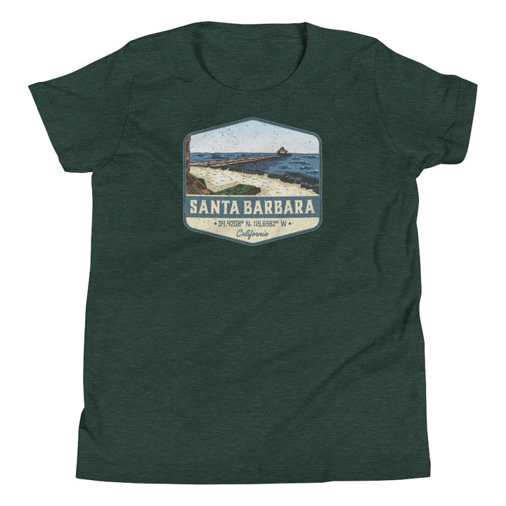 Santa Barbara, California Youth Short Sleeve T-Shirt