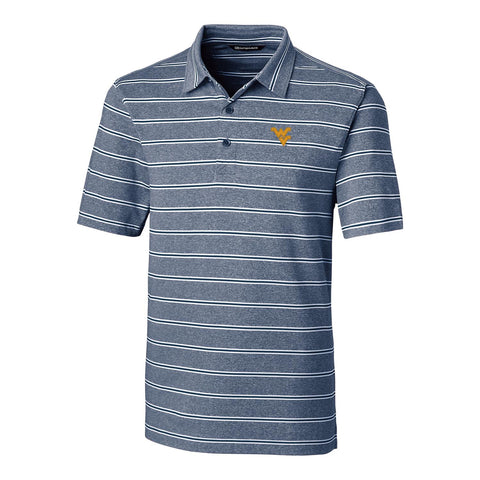 CUTTER AND BUCK FORGE HEATHER STRIPE POLO