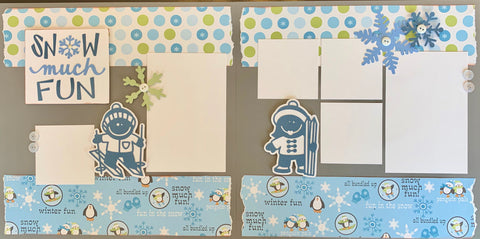 Snow much fun - 12x12 Scrapbook Page Kit