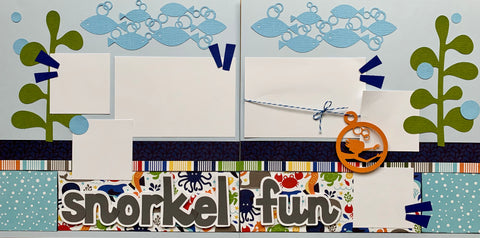 Snorkel Fun - 12x12 Scrapbook Page Kit