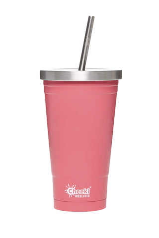 Cheeki 500ml Stainless Steel Tumbler - Dusty Pink