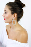 Diamante Rhinestone Drop Dangle Earrings