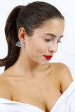 Silver Diamante Wing Single Stud Earring
