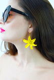 Yellow Flower Drop Dangle Earrings