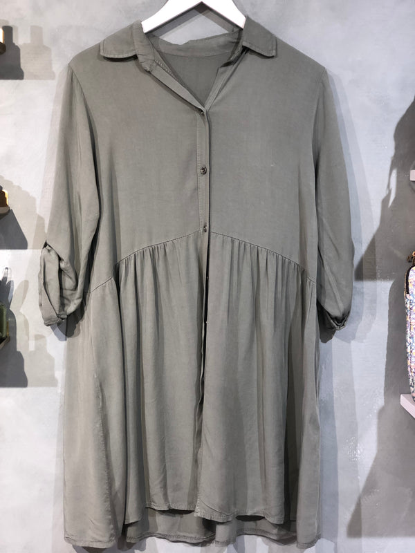 Paris Shirt Dress Green
