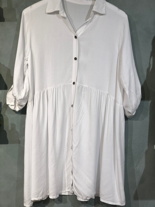 Paris Shirt Dress White