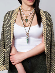 Seaside Howlite Asymmetrical Long Necklace Set/3