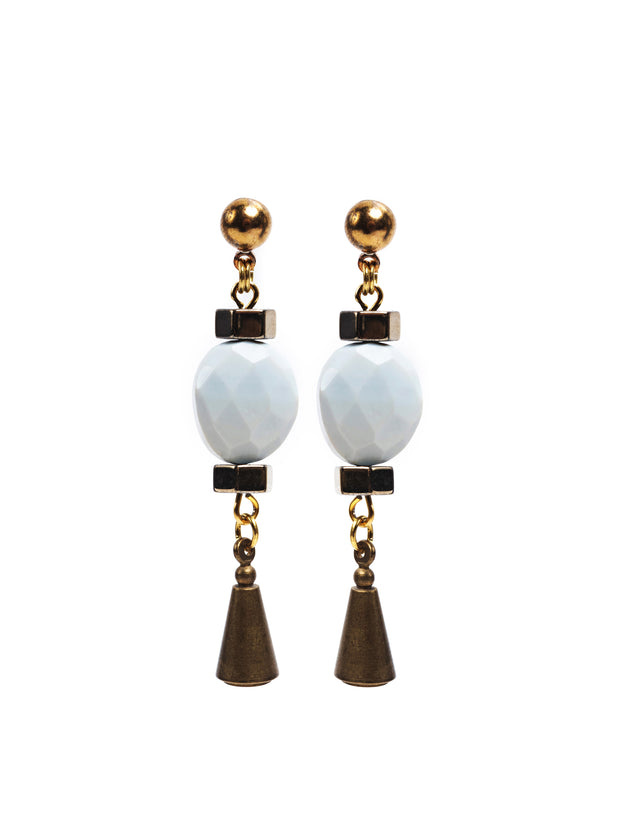 Hermosa Beach Blue Opal Earrings