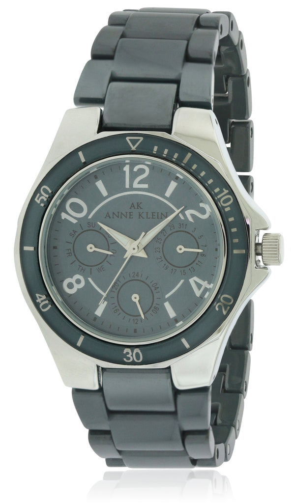 Anne Klein Grey Ceramic Ladies Watch