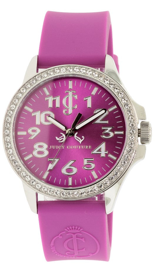 Juicy Couture Jetsetter Purple Silicone Ladies Watch