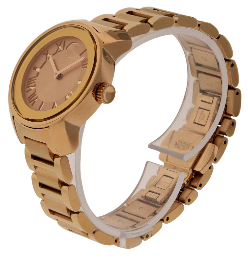 Movado Bold Rose Gold Ladies Watch