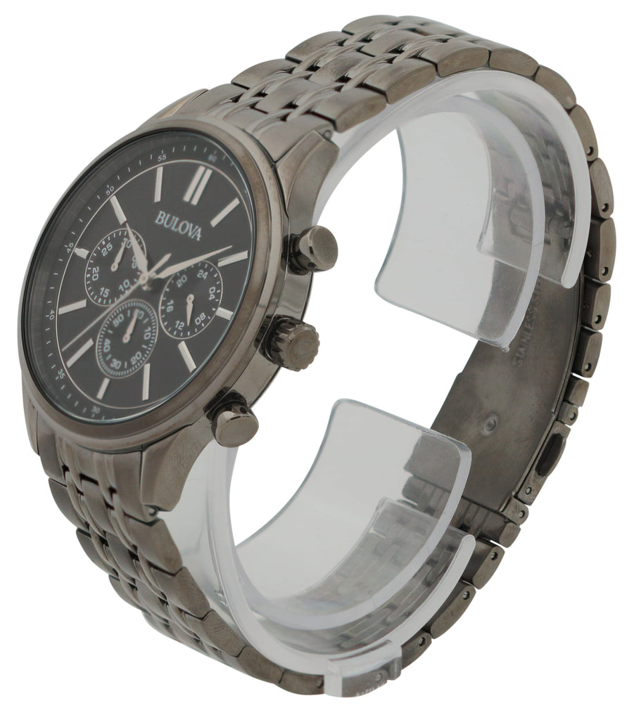 Bulova Gunmetal Chronograph Mens Watch