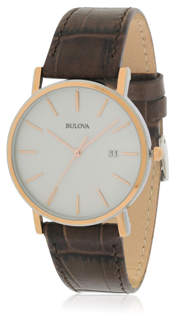 Bulova Brown Leather Mens Watch