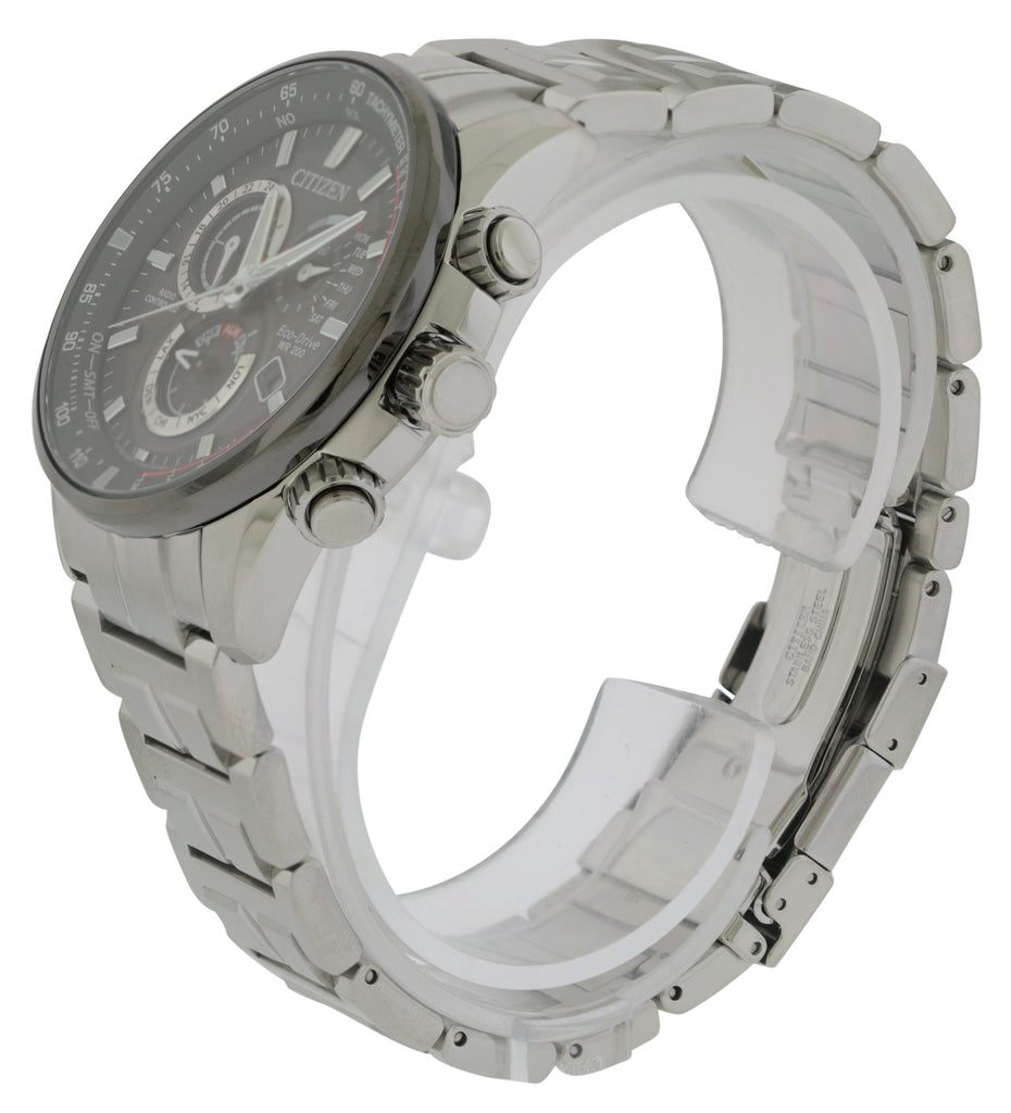 Citizen Eco-Drive Stainless Steel Chronograph Mens Watch