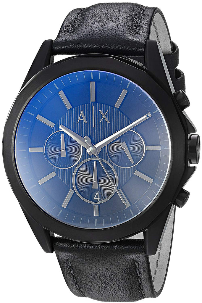 Armani Exchange Leather Chronograph Mens Watch