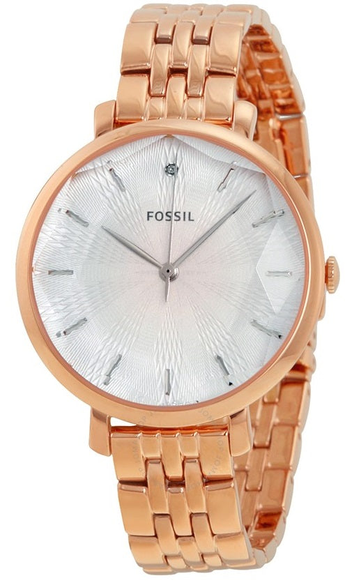 Fossil (Open Box) Jacqueline Rose Gold-Tone Ladies Watch ES3860