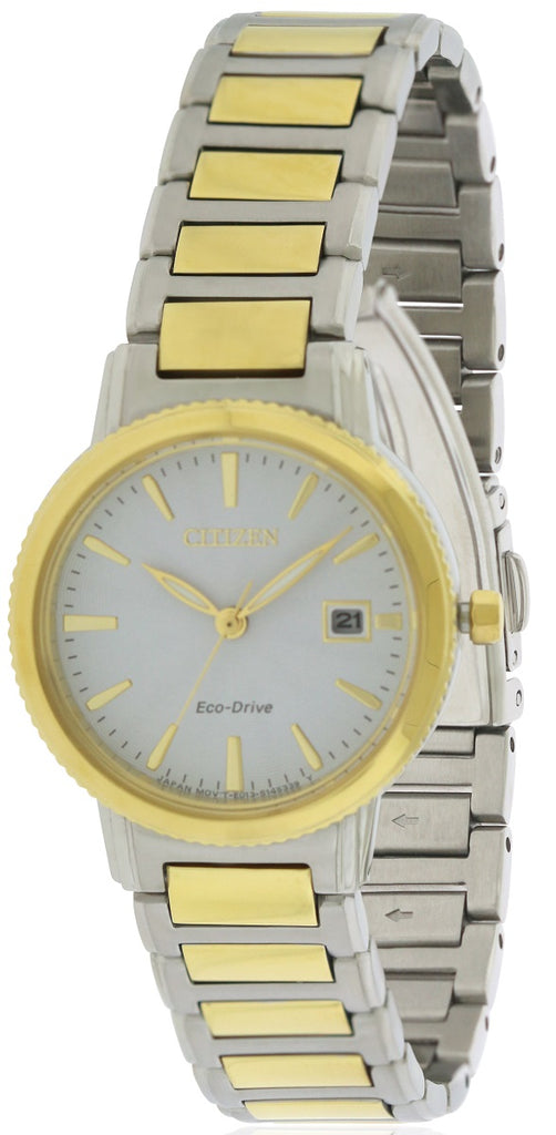 Citizen Eco-Drive Silhouette Two-Tone Ladies Watch