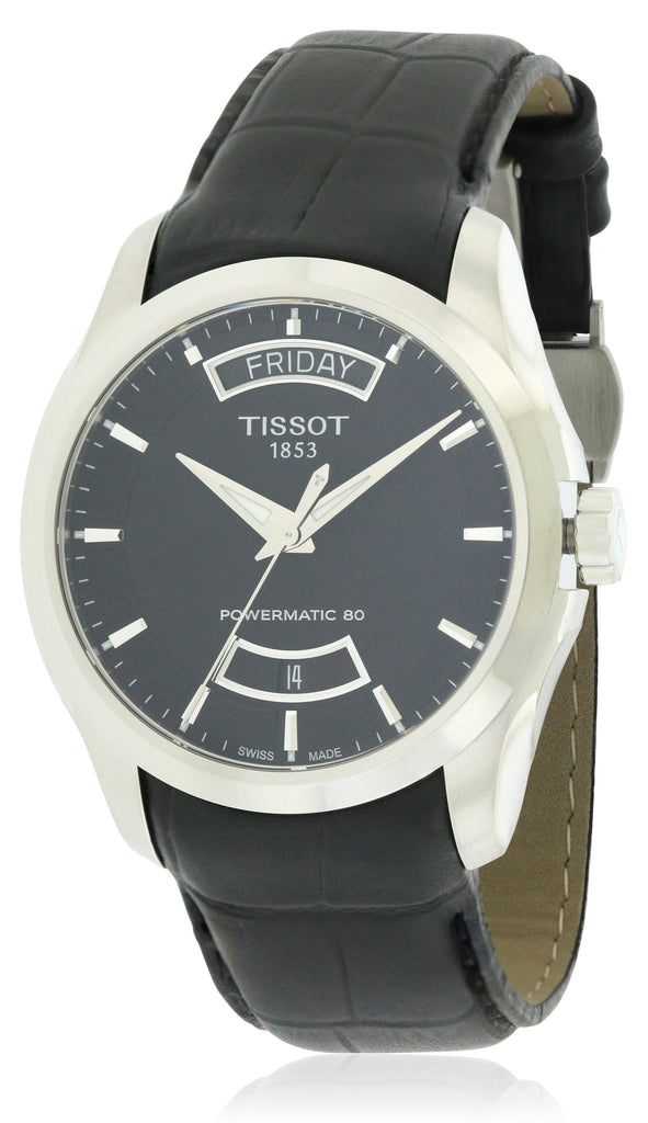 Tissot Couturier Powermatic 80 Leather Mens Watch