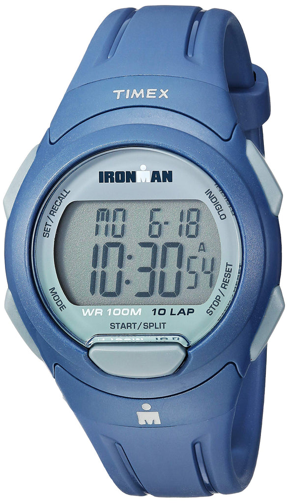 Timex Mens Ironman Essential 10 Navy/Gray Resin Strap Watch
