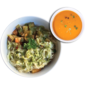 Chef's SPECIAL: Hash P&C Bowl w/Soup