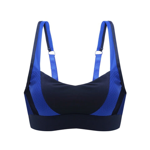 Adjustable and Breathable Sports Bra- Blue