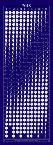 2019 MOON CALENDER (ONE SHEET)