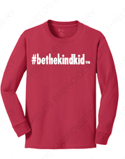 Youth Long Sleeved T-Shirt (Crew Neck)