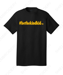 BLACK and GOLD Youth Short Sleeved T-Shirt (Crew Neck)