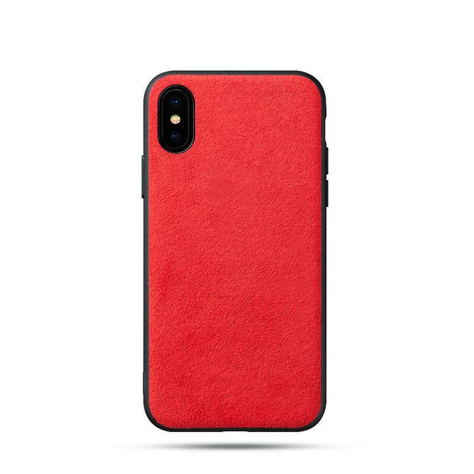 Alcantara iPhone X Case - Special Red Edition-UXORIOUS