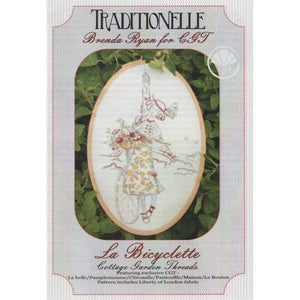 La Bicyclette  - Traditionelle Stitchery Pattern