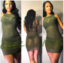 Load image into Gallery viewer, Xena See Me: Mini Mesh Cover Up Dress