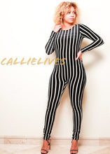 Load image into Gallery viewer, Xena Cirque de Linea: Velvet Pinstripe Catsuit
