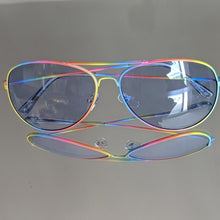 Load image into Gallery viewer, Rainbow Frame Aviators w/ Clear Blue Lens