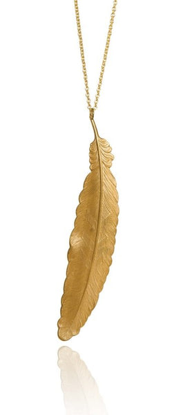 Bohemia Feather Necklace Gold or Silver