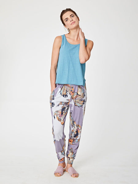 Thought Koro Printed Bamboo Jersey Trousers