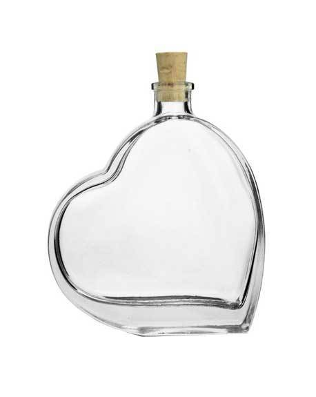 ilgusto glass passion heart bottle