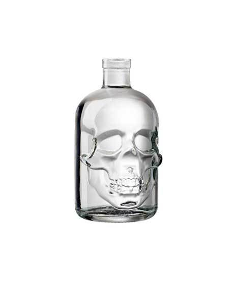 ilgusto glass skull bottle
