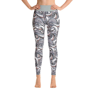 Dark Wave Yoga Leggings - Mermaids and Minis