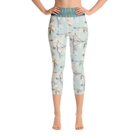 Shoot for your Dreams Yoga Capri Leggings - Mermaids and Minis