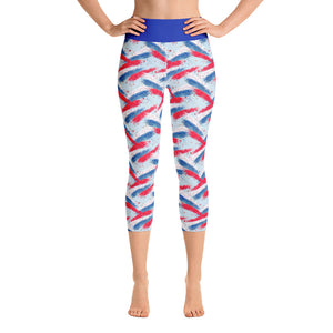 4th of July Fireworks Yoga Capri Leggings - Mermaids and Minis