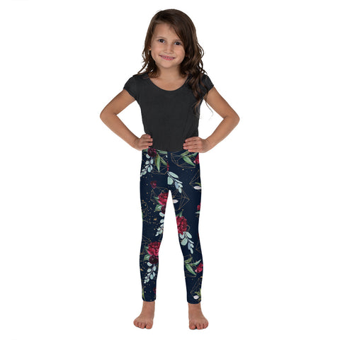 Dark Floral Dream Kid's Leggings - Mermaids and Minis