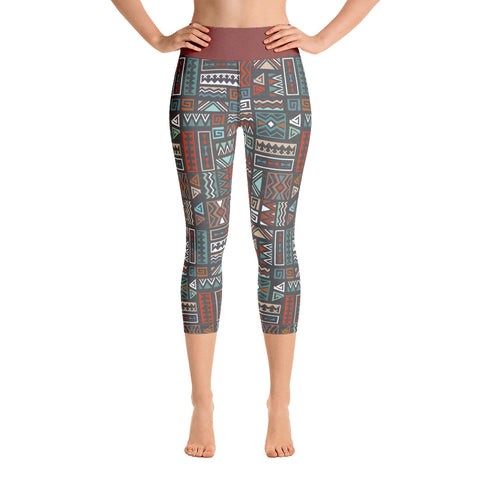 Fall | Aztec Yoga Capri Leggings - Mermaids and Minis