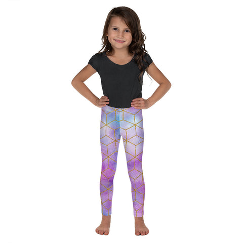 Watercolor Kid's Leggings - Mermaids and Minis