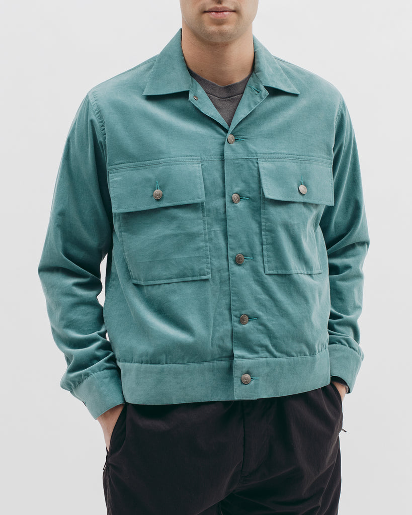 Corduroy Ranch Jacket - Dusty Teal - [product _vendor]