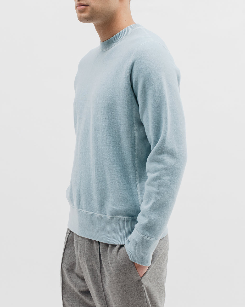 Natural Dyed Crew Fleece - Dusty Teal - [product _vendor]