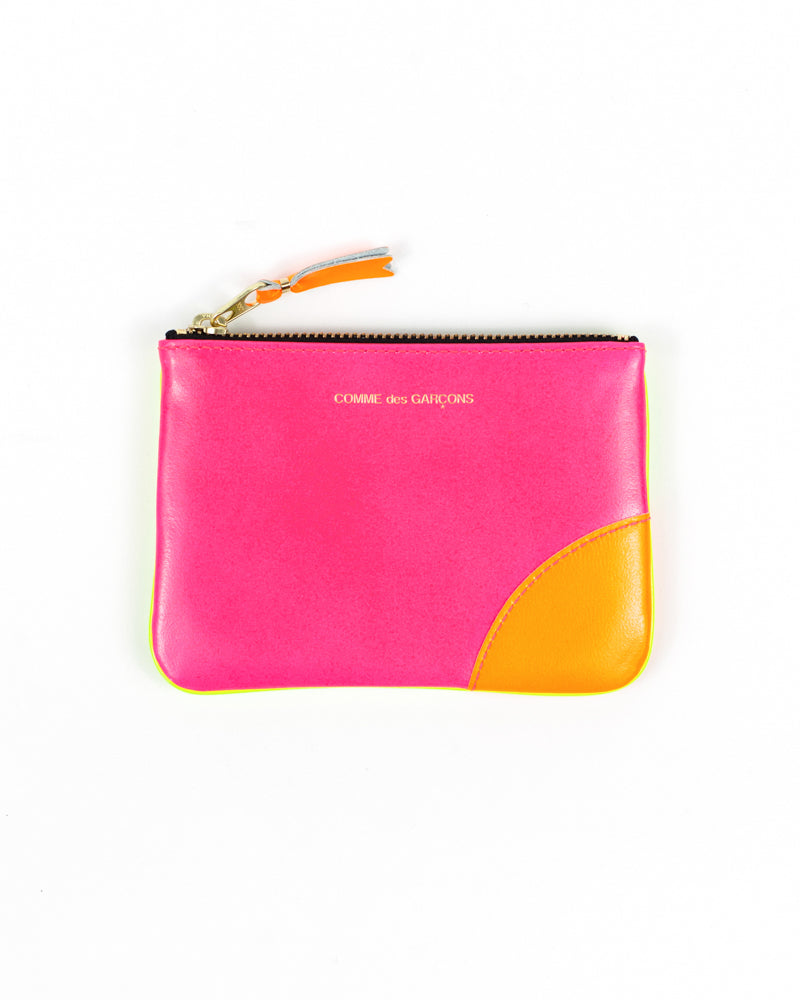 Super Fluo Small Zip Pouch - Pink/Yellow - [product _vendor]