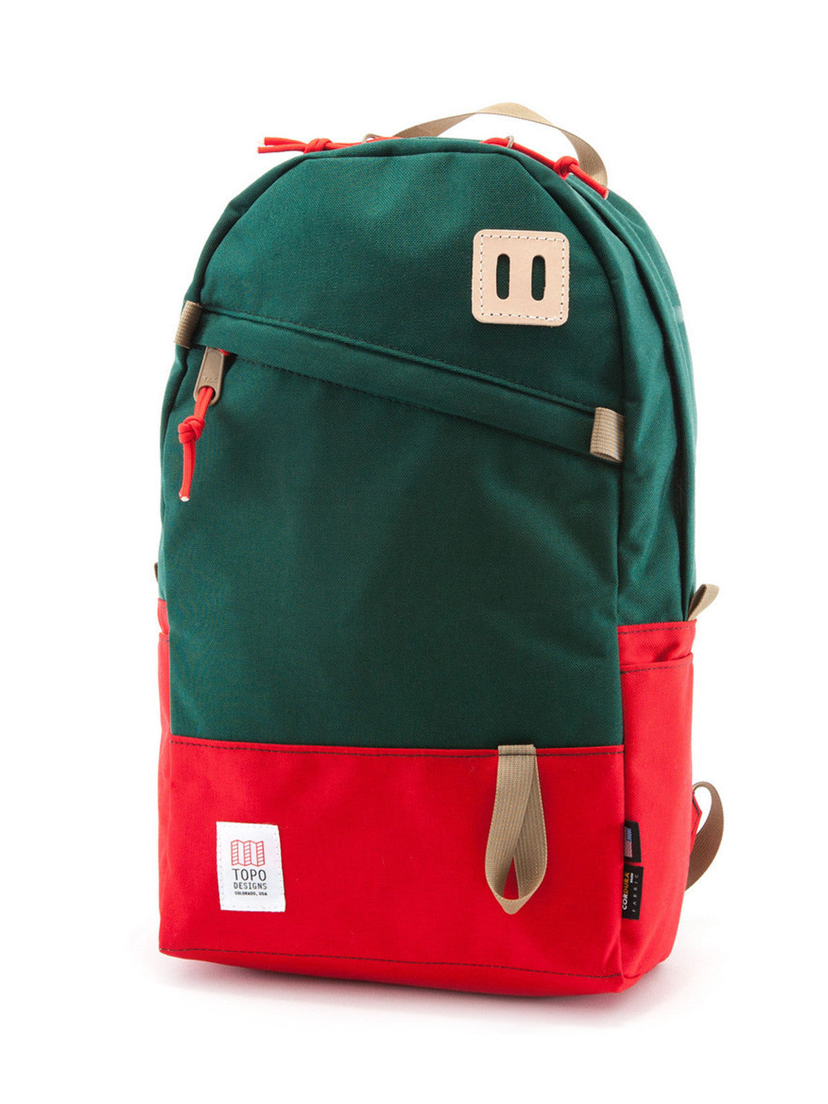 Topo Designs Daypack - Red/Forest